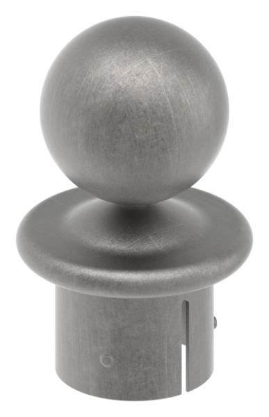 Kugelrohrknopf für Ø 60,3x2,5-2,9 mm   Stahl S235JR, roh