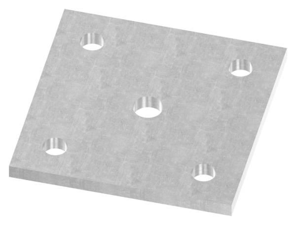 Ankerplatte | Maße: 120x120x8 mm | Stahl (Roh) S235JR
