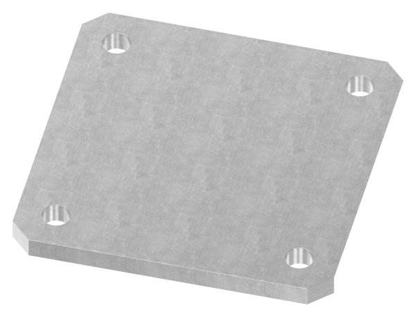 Ankerplatte | Maße: 150x150x10 mm | Stahl (Roh) S235JR