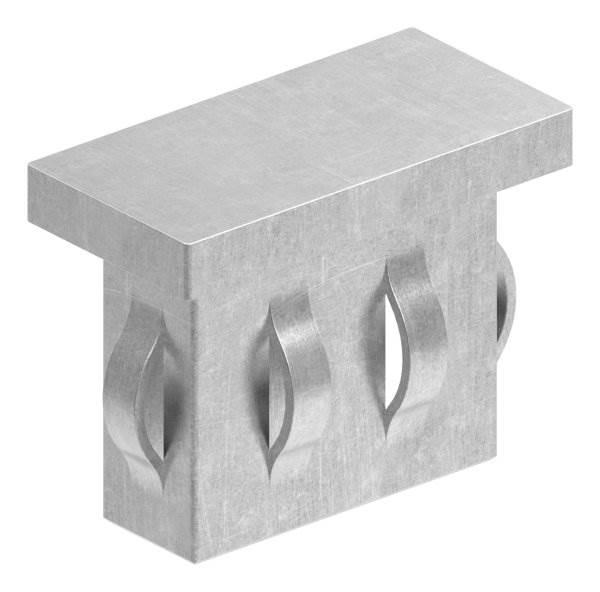 Stahlstopfen flach   für Rohr 40x20x1,5-2,0 mm   Stahl S235JR, roh