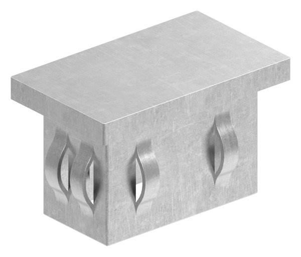 Stahlstopfen flach   für Rohr 50x30x2,0-3,0 mm   Stahl S235JR, roh