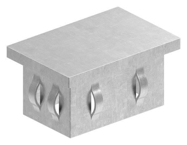 Stahlstopfen flach   für Rohr 60x40x2,0-3,0 mm   Stahl S235JR, roh