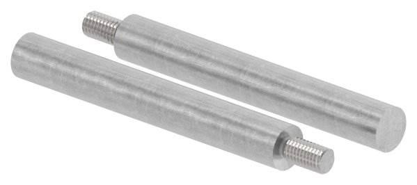 Stahlstift | mit Gewinde M8 | Maße: 100x14 mm | Stahl (Roh) S235JR