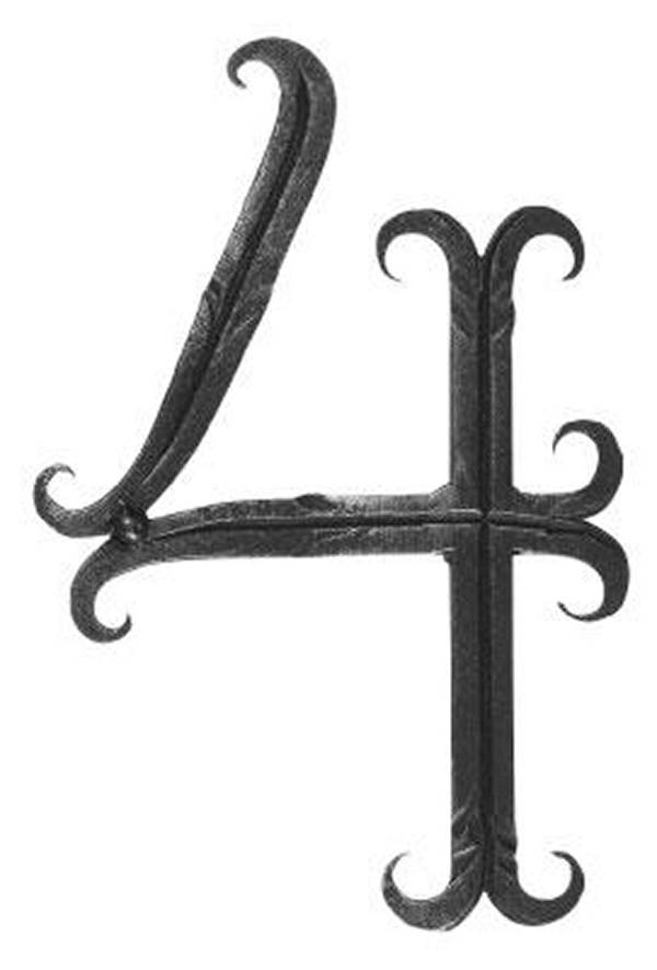 Hausnummer 4 | Abmessung 18x10 cm | Material 12x5 mm | Stahl (Roh) S235JR