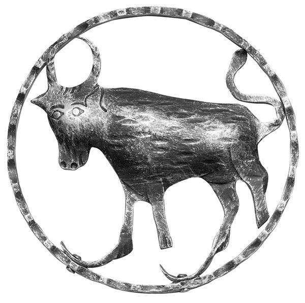 Sternzeichen Stier |  Ø 200x5 mm | Stahl S235JR, roh