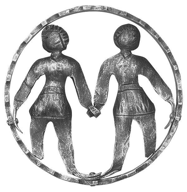 Sternzeichen Zwillinge | Ø 200x5 mm | Stahl S235JR, roh