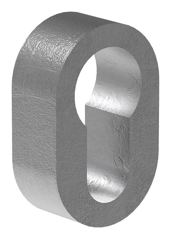 Sicherheitsrosette   Maße: 29x45x15 mm   Stahl S235JR, roh