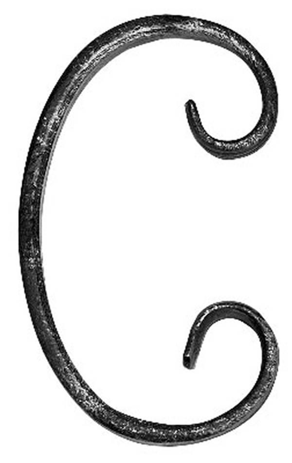 C-Schnecke | Maße: 60x100 mm | Material: 12x5 mm | Stahl S235JR, roh