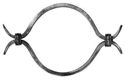 Zierelement | Maße: 195x120 mm | Stahl (Roh) S235JR