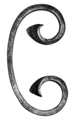 C-Schnecke | Maße: 60x120 mm | Material: 12x6 mm | Stahl S235JR, roh