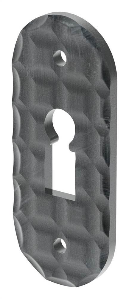 Schlüsselrosette   Maße: 72x30 mm   Stahl (Roh) S235JR