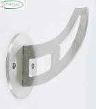 Handlaufschwert V2A mit Ronde Ø 80 mm für Handlauf Ø 42,4 mm