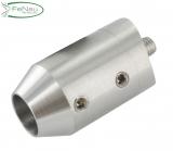 V2A-Querstabhalter zum Stoßen von vorne für Ø 33,7 mm
