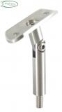 Stütze Ø 14 mm V2A mit Gelenk und Halteplatte für Ø 33,7 mm
