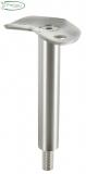 V2A Stütze mit Halteplatte 135° für Rundrohr Ø 42,4 mm