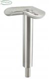 V2A Stift mit M8 mit Halteplatte 90° für Rundrohr Ø 42,4 mm