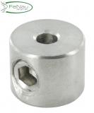 Rundklemme V4A mit Madenschraube für Seil Ø 2-4 mm