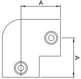 Rohrverbinder 125C42 - Bogen 90°
