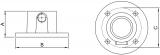 Rohrverbinder 131A27 - Wandbefestigung rund