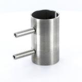 V2A Verbindungshülse mit Schrauben für Rundrohr Ø 42,4 x 2,6 mm