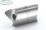 V2A-Rohrverbindungsstück verstellbar für Rundrohr Ø 48,3 mm