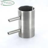 V2A Verbindungshülse mit Schrauben für Rundrohr Ø 48,3 x 2,6 mm