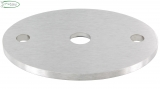 Ronde V2A 75 x 55 x 4 mm oval flach mit Zentrierbohrung 10 mm