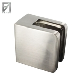 Glasklemme Edelstahleffekt 45x45x27 mm Modell 30 (Flach)