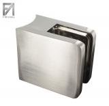 Glasklemme Edelstahleffekt 45x45x27 mm Modell 21 für Ø 42,4 mm