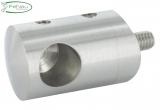 Querstabendhalter V2A links für Anschluss Ø 42,4 mm