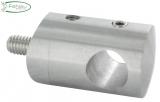 Querstabhalter Ø 22 mm V2A für Anschluss Ø 48,3 mm mit Bohrung 12,2 mm