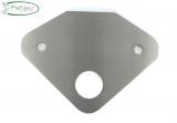Ankerplatte V2A 170 x 125 x 6 mm für Rundrohr Ø 33,7 mm