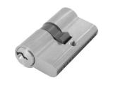 Zylinder Edelstahloptik mit 3 Schlüssel 60 mm