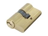 Zylinder aus Messing vernickelt mit 3 Schlüssel 55 mm