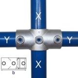 Rohrverbinder 119C42/D48 - Kreuzstück durchgehend