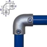 Rohrverbinder 125D48/C42 - Bogen 90°