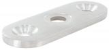 Handlaufanschlussplatte V2A 63x25x4 mm für flach (Vierkant)
