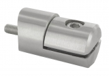 Blechhalter Ø 25 mm V2A für Anschluss Ø 33,7 mm