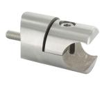 Blechhalter V2A Ø 28 mm für 18 mm Klemmprofil Anschluss Ø 42,4 m