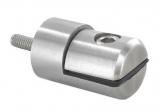 Blechhalter Ø 32 mm V2A für Anschluss flach/gerade
