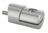 Blechhalter V2A Ø 32 mm mit Anschluss Ø 42,4 mm