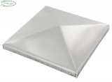 V2A Pyramidenkappe für Rohr 80 x 80 mm
