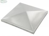 V2A Pyramidenkappe für Rohr 120 x 120 mm