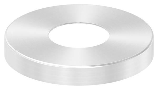 Abdeckrosette 105x15 mm V2A für Rundrohr Ø 42,4 mm