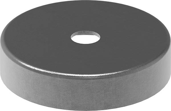 Abdeckrosette | 76x13x1,5 mm | Stahl S235JR, roh