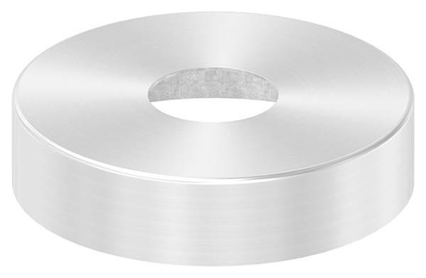 Abdeckrosette | Maße: Ø 105x25 mm | für Rundrohr: Ø 33,7 mm | V2A