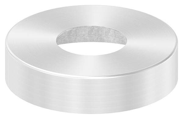 Abdeckrosette | Maße: Ø 105x25 mm | für Rundrohr: Ø 42,4 mm | V4A