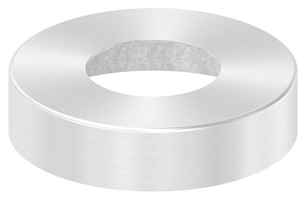 Abdeckrosette | Maße: Ø 105x25 mm | für Rundrohr: Ø 48,3 mm | V4A