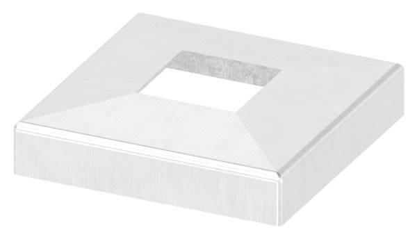 Abdeckrosette | Maße: 108x108x25 mm | für Vierkantrohr: 40x40 mm | V2A