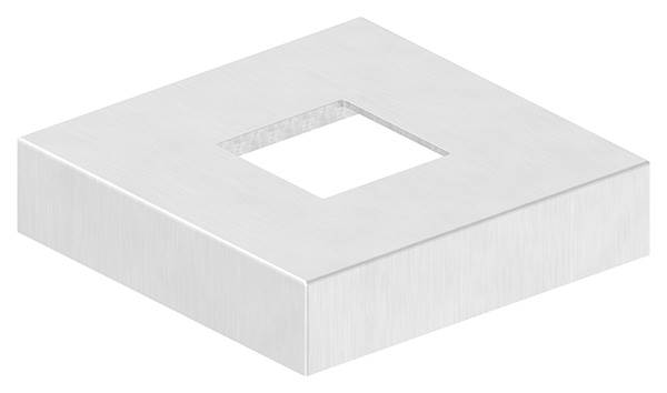 Abdeckrosette | Maße: 109x109x25 mm | für Vierkantrohr: 40x40 mm | V4A